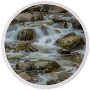 Bridalveil Creek Yosemite Round Beach Towel