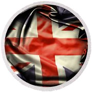 British Flag 10  Round Beach Towel