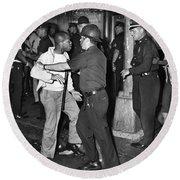 Brooklyn Riots, 1964 Round Beach Towel