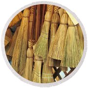 Brooms For Sale Round Beach Towel