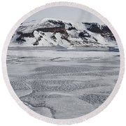Brown Bluff, Antarctica Round Beach Towel