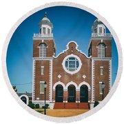 Brown Chapel In Selma Alabama Round Beach Towel