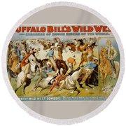 Buffalo Bills Wild West Round Beach Towel