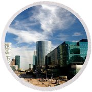 Business Architecture Round Beach Towel