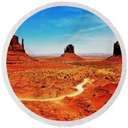 Buttes Round Beach Towel
