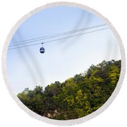 Cable Car Round Beach Towel