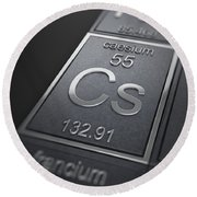 Caesium Chemical Element Round Beach Towel