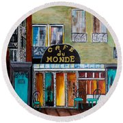 Cafe Du Monde Round Beach Towel