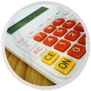Calculator Round Beach Towel