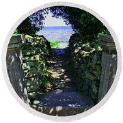 Cana Island Walkway Wi Round Beach Towel