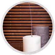 Candles And Bamboo Round Beach Towel