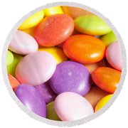 Candy Background Round Beach Towel