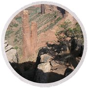 Canyon De Chelly Spider Rock Round Beach Towel