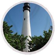 Cape Florida Light Round Beach Towel