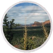 Capitol Butte Round Beach Towel