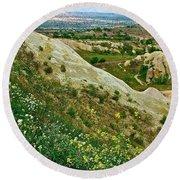 Cappadocia Landscape-turkey Round Beach Towel