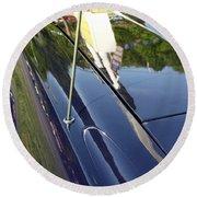 Car Reflection Round Beach Towel