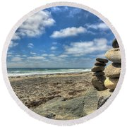 Cardiff Stacks Round Beach Towel