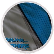 Carolina Panthers Uniform Round Beach Towel