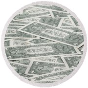 Carpet Of One Dollar Bills Round Beach Towel