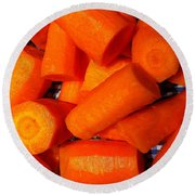 Carrots Ready To Cook Round Beach Towel