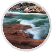 Castor River Round Beach Towel