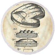 Catcher's Glove Patent 1891 - Vintage Round Beach Towel