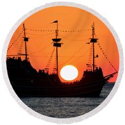 Catching The Sun Round Beach Towel by David Lee Thompson