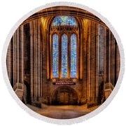 Cathedral Window Round Beach Towel by Adrian Evans