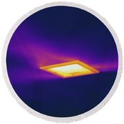 Ceiling Heating Vent, Thermogram Round Beach Towel