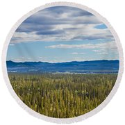 Central Yukon T Canada Taiga And Ogilvie Mountains Round Beach Towel