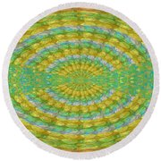 Chakra Mandala Green Wheel Meditation Unique Style Creative Beads Crystal Energy Healing Round Oval  Round Beach Towel