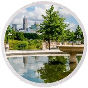 Charlotte North Carolina View From Greenway Round Beach Towel