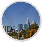 Charlotte Skyline Round Beach Towel