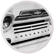 Chevrolet Apache 31 Fleetline Pickup Truck Round Beach Towel