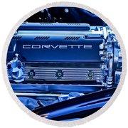 Chevrolet Corvette Engine Round Beach Towel