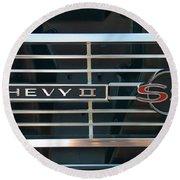 Chevy Super Sport II Emblem Round Beach Towel