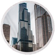 Chicago Architecture Round Beach Towel