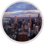 Chicago Il. Skyline, May 2009 Round Beach Towel