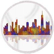 Chicago Illinois Skyline Round Beach Towel