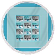Chilly Winter Day Round Beach Towel