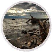 Chippewa  Round Beach Towel by Jakub Sisak