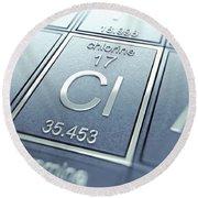 Chlorine Chemical Element Round Beach Towel