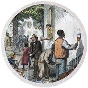 Cholera Epidemic, 1873 Round Beach Towel
