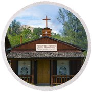 Christ Fellowship Wofford Heights Round Beach Towel