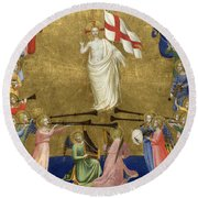 Christ Glorified In The Court Of Heaven Round Beach Towel