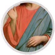 Christ Weeping Over Jerusalem Round Beach Towel