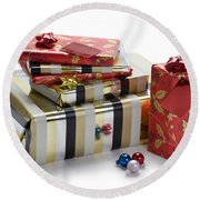 Christmas Gifts Round Beach Towel