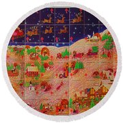 Christmas Seals 1976 Round Beach Towel