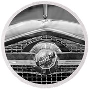 Chrysler Grille Emblem Round Beach Towel